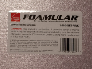 foamular label