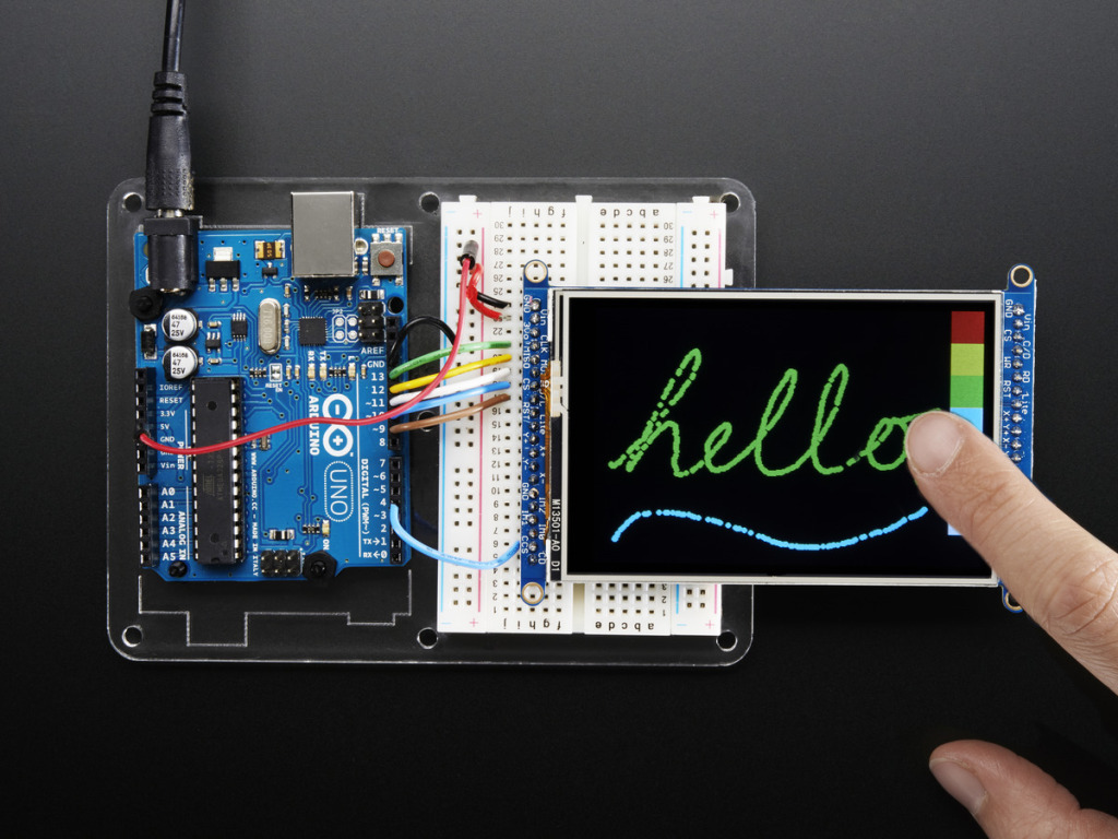 Adafruit TFT Touchscreen