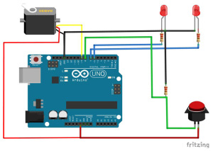 Servo Control with LED Feedback