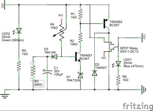 Power-On Delay Circuit Schematic