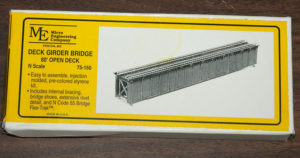 Two 80' bridge kits provided all the material needed for the basic bridge structure.